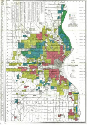 Residential security map of Milwaukee County, 1938