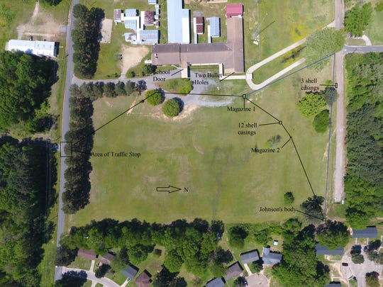 A chase prior to the March 19 shooting took place in an open field before H.V. Adams Elementary School. The school was closed in December.