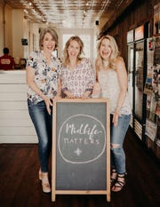 "Julie King, left, Marie Perrigo and Mindy Sillyman created the podcast ""Midlife Matters"" to explore new challenges as women reach the middle stages of life. In seven months, they've had more than 10,000 downloads."