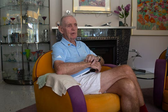 Thomas J. Marshall talks during an interview, Tuesday, July 2, 2019, at his home in East Naples.