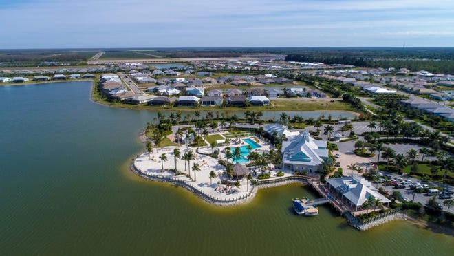 Aerial view of Naples Reserve community in South Naples.