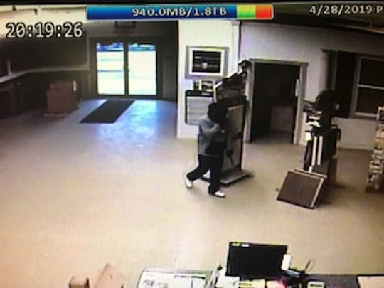 The Sheriff's Office reports Holmes Lumber was broken into on April 28.
