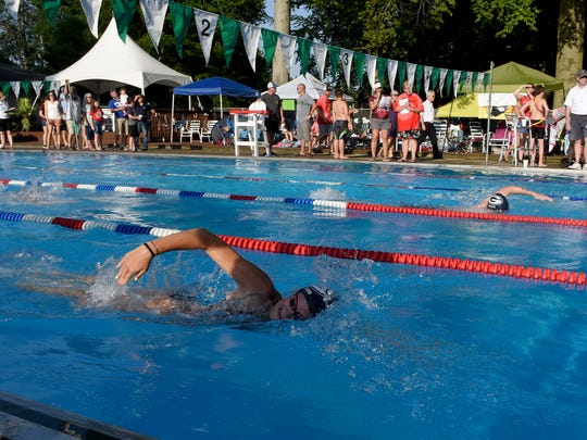 The Moundbuilders Pirhanas and Granville Stingrays compete in a 2019 Tri-County Aquatic League meet. The 2020 TCAL season has been canceled as the status of swimming this summer remains uncertain because of the coronavirus pandemic.