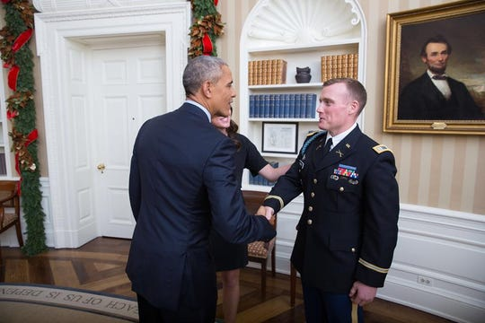 Timothy Bishop met President Barack Obama.