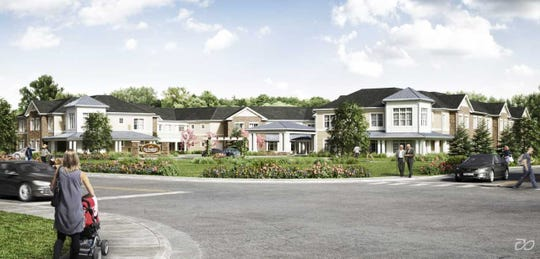 The Sunrise Living Assisted Living project at the intersection of Franklin Avenue is one of three that will be built to meet Franklin Lakes' affordable housing obligation.