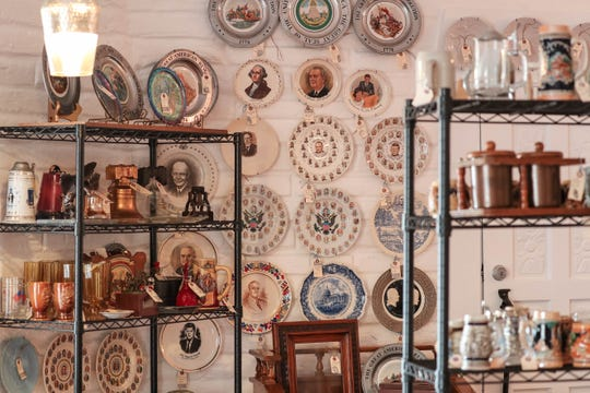 Antiques and other items are displayed for sale at Main Street Vintage Mercado on Main Street and Las Cruces Avenue in Downtown Las Cruces on Tuesday, July 2, 2019.