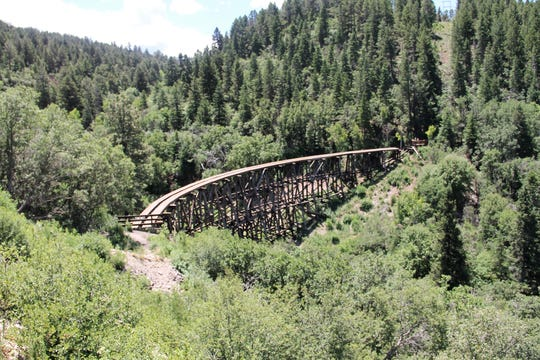 Mexican Canyon Trestle in the Lincoln National Forest.