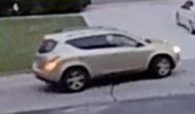 Bloomfield Township police are looking for this gold SUV without a muffler because of a recent auto breakin.