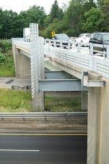 The Drake Road bridge as it spans M-5 in Farmington Hills.