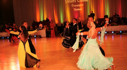 Witness all the glamour, sparkles and ballroom bling at Desert Classic DanceSport Championships