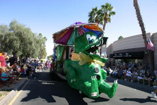 Scenes from the Palm Desert Golf Cart Parade, through the years.