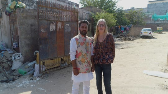 """""""90 Day Fiancé: The Other Way"""" stars Jenny (right) and Sumit' in New Delhi, India"""