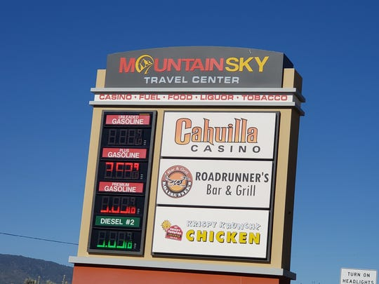 Right now, the MountainSky Travel Center outside Anza on the reservation of the Cahuilla Band of Indians has a convenience store, gas station, restaurant and casino. The makeover will include a much larger casino and a 57-room hotel. It is scheduled to open later this year.