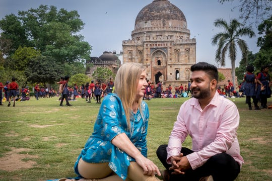 """90 Day Fiancé: The Other Way"" stars Jenny (left) and Sumit' in India"
