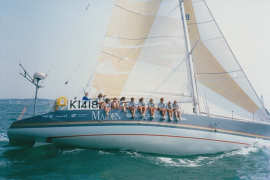 "One reporter called the boat featured in the documentary ""Maiden"" ""a tinful of tarts."""
