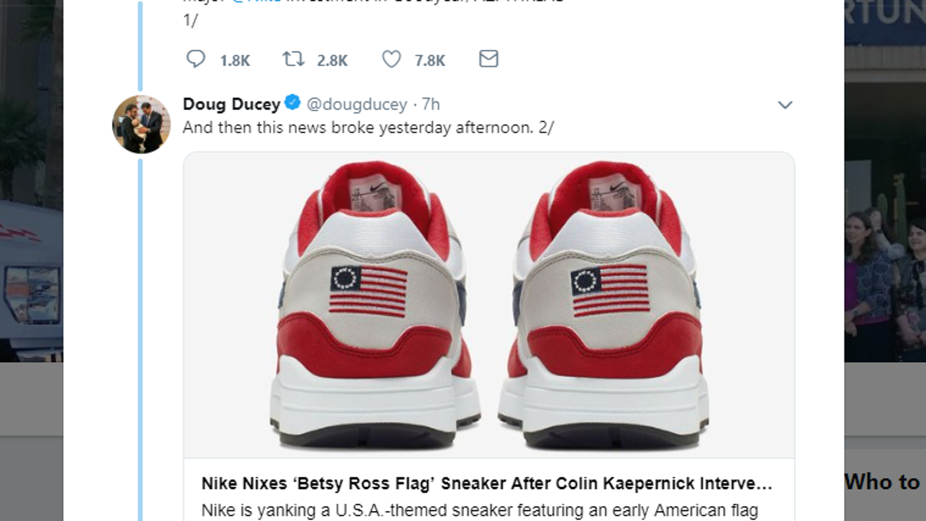 02977f07 StockX pulls Nike 'Betsy Ross' flag sneakers from resale site, citing  company values