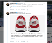 "Arizona Gov. Doug Ducey took to Twitter to express his thoughts about Nike's decision to pull a show with a ""Betsy Ross flag"" on them."