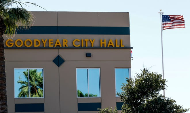 Outside of Goodyear's City Hall in Goodyear, July 2, 2019.