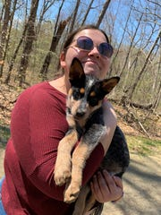 Emily Deninger holds Cleo, who was adopted from Compassionate Animal Rescue Efforts of Dutchess County in Wappingers Falls.