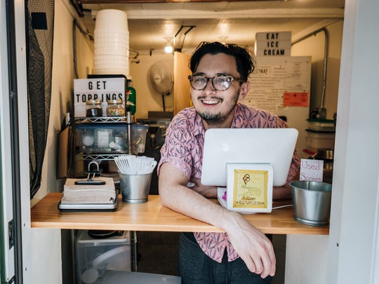 Alleyway owner Julian Hom is curating ice cream flavors made in small batches at his Saugerties shop.