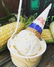 Sweet Corn ice cream made with local corn is offered at Zoe's Ice Cream in LaGrangeville.