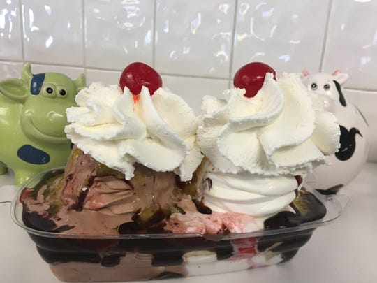 Holy Cow Ice Cream in Red Hook offers classic sundaes, cones and cakes.