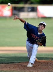 Michael Livingston, seen here in a file photo, is expected to be a key figure on the mound when Pleasureville competes in the Region 4 American Legion baseball playoffs starting Friday.