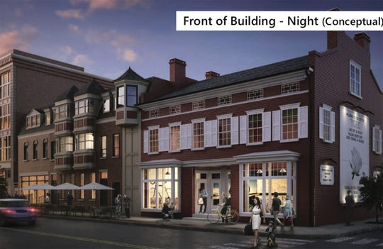 Conceptual drawing looking at the front of a Royal Square Development & Construction $3.6 million redevelopment project in the 200 block of North George Street.