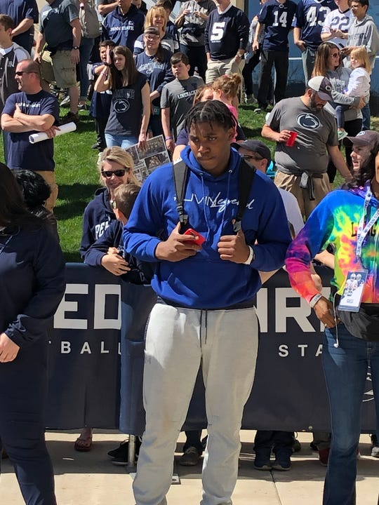 New Jersey defensive line prospect Amin Vanover visited Penn State during the Blue-White Game in April. He verbally committed to the Nittany Lions two months later.