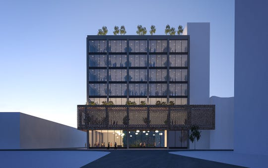 "A rendering of the proposed ""101 North Virginia"" downtown Reno project by Bay Area-based SVE Development Partners. The structure used to be the old Woolworth's building."