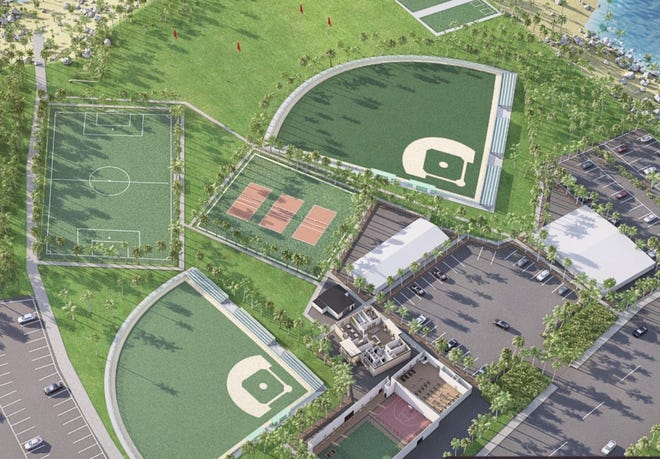This is a potential layout for the Sports Next Level, 2838 College Hills Blvd. It is not the final draft, but it will include facilities for baseball and other sports.