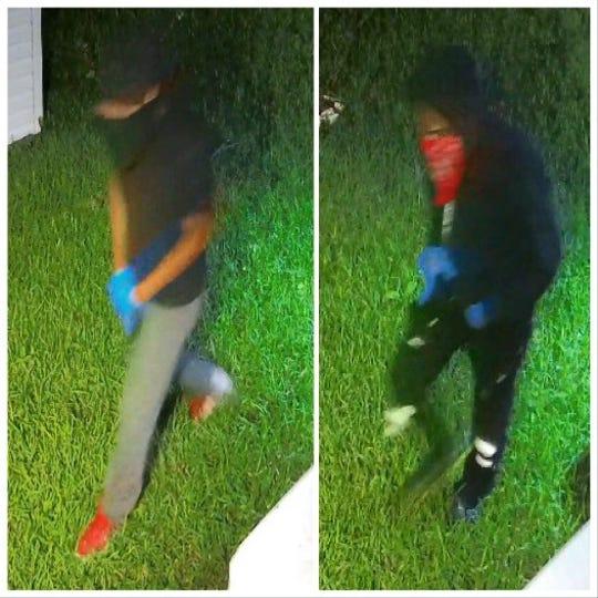 The Shreveport Police Department is searching for two suspects wanted in a home burglary that occurred just after midnight on July 1 in the 2900 block of E. Cavett Drive.
