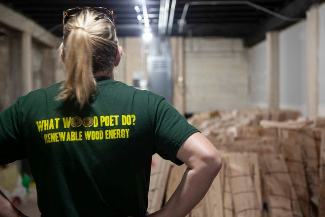 Since opening its downtown Sioux Falls location in December, Escape 605 has around 6,000 boards used as targest for its axe-throwing business. The company recently teamed up with biorefiner POET to recycle the wood.