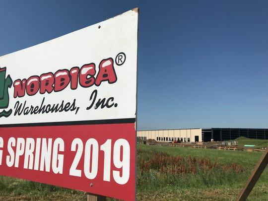 Nordica Warehouses Inc. is the third tenant at Foundation Park. Construction continues though the nearly 200,000-square-foot facility has mostly taken shape.