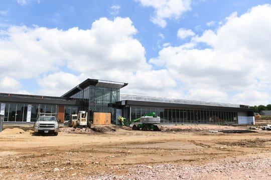 Construction continues on the Avera Human Performance Center on Louise Ave. on Tuesday, July 2, in Sioux Falls.