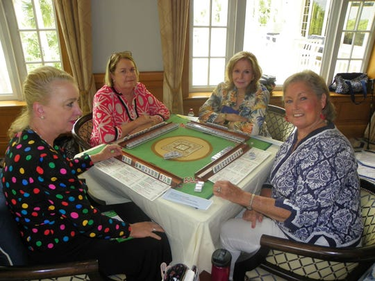 Sustaining Members of the Junior League of Indian River County play Mah Jongg on a regular basis. Once a year they hold a tournament that benefits a local charity. This is the second year they have selected the Education Foundation's Sneaker Exchange Program.