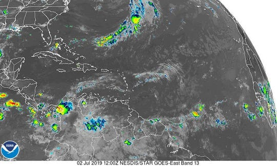 Atlantic basin July 2, 2019