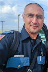 El Paso police motorcycle Officer Daniel Rodriguez was injured in a traffic collision while escorting a funeral procession on May 23, 2019.