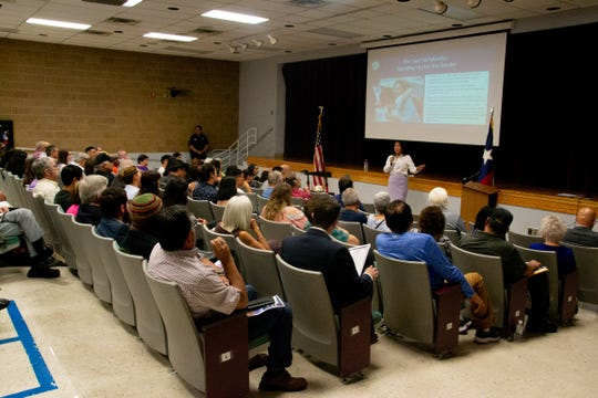 Congresswoman Veronica Escobar had a town hall Tuesday, July 2, 2019, where she spoke about immigration and her accomplishments in her first six months in office.