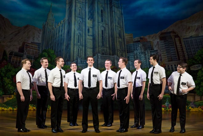 """""""The Book of Mormon,"""" a nine-time Tony award-winning best musical, will be performed July 9-14 at the Thousand Oaks Civic Arts Plaza."""