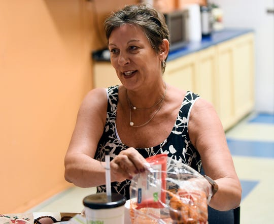 Vineland Soup Kitchen Director Darlene Fiedler talks to The Daily Journal about items needed for a special event, If Not For Grace mobile shower ministry, to be held at The Salvation Army in Vineland on July 10.