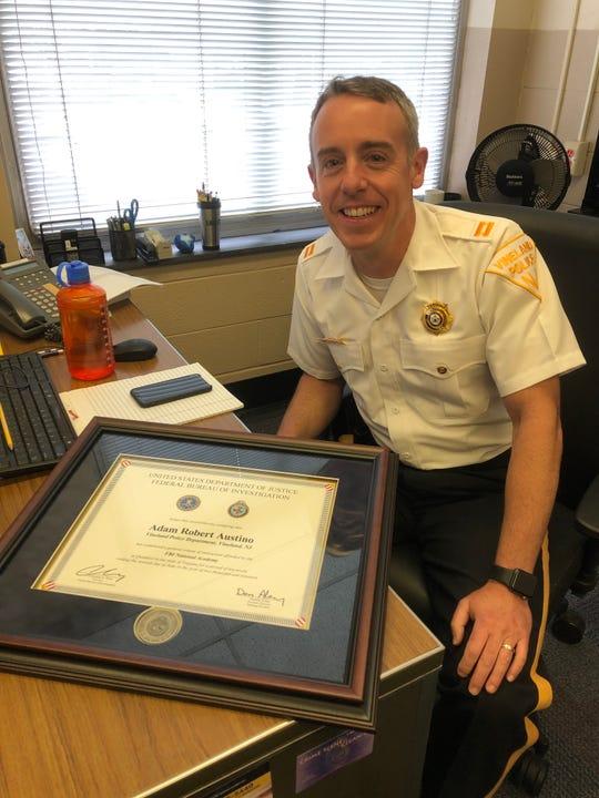 Vineland Police Captain Adam Austino is a recent graduate of the FBI National Academy.