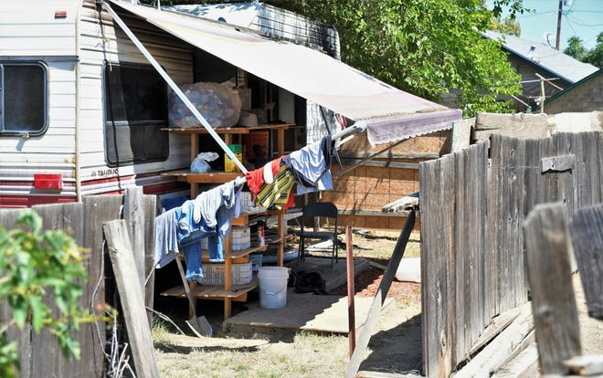 Visalia firefighters and police are investigating the body of a man found dead in his trailer on Tuesday, July 2, 2019.