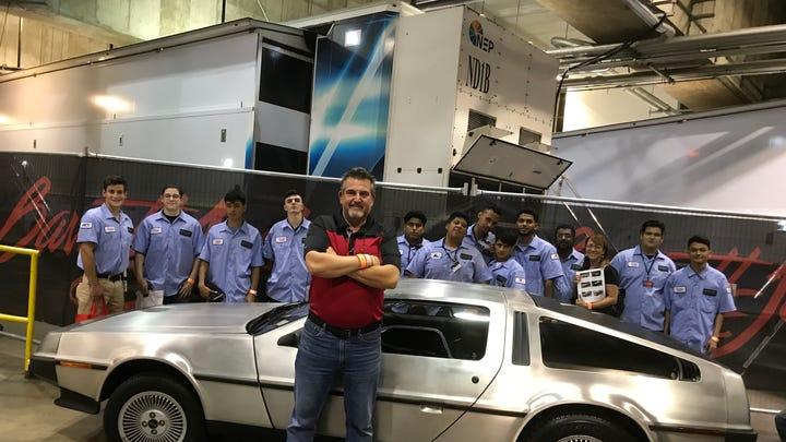 Rockland BOCES-built DeLorean roars off the auction block