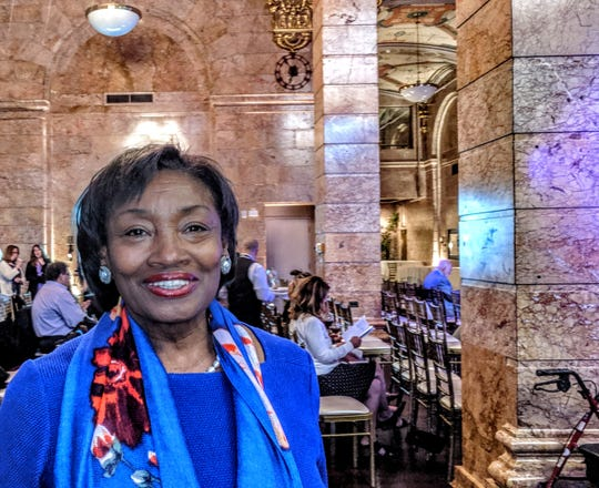 Senate Majority Leader Andrea Stewart-Cousins, at the Legislative Correspondents Association show in Albany on May 21, 2019.