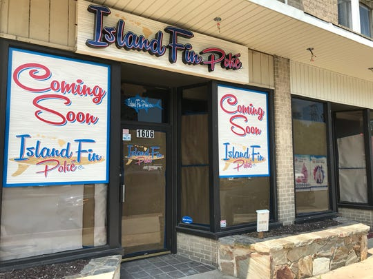 Island Fin Poke is coming soon to Trolley Square. Its owners hope to open within a month, offering poke bowls that have swept through the country.