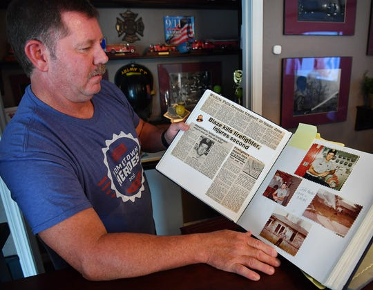 Retired Wichita Falls firefighter J.J. Awtry has several photo albums and scrapbook from his 36-year career with the WFFD. He lost his best friend and fellow firefighter, Jeff Hardin, in July of 1984.