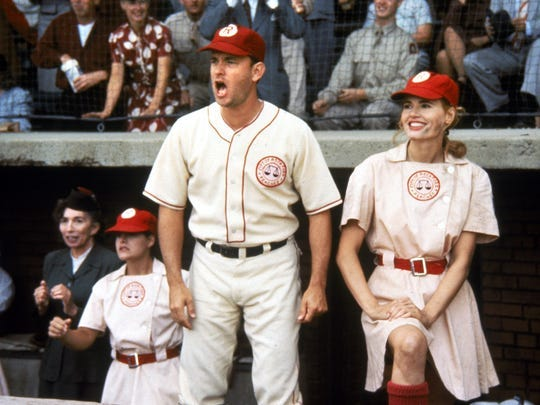 """""""A League of their Own"""" featuring Tom Hanks and Geena Davis was Kathy McClellan's top baseball film of all-time."""
