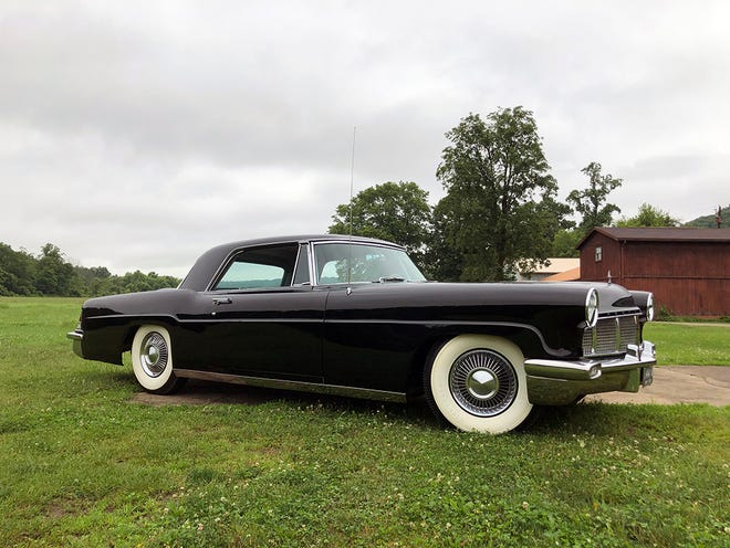 This 1956 Lincoln Continental Mark II was purchased at Zane Lincoln Mercury by Ethel Weller Curphey. It was recently restored by Art Moose of Zanesville.