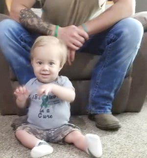 Jaxtyn West was given the gift of life by his father at birth, and again in March when Jake West donated 30 percent of his liver to save his 9-month-old son.